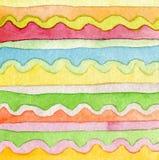 Fondo pintado a mano de la acuarela abstracta del ornamento. Imagen de archivo libre de regalías