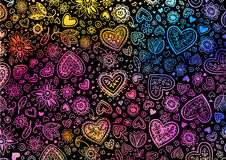 Fondo pintado a mano de la acuarela con los corazones libre illustration