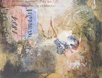 Fondo pintado a mano de los media mezclados Foto de archivo libre de regalías