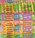 Fondo pintado a mano del ornamento de la acuarela abstracta Imágenes de archivo libres de regalías