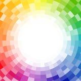 Fondo pixelated extracto de la rueda de color Stock de ilustración