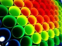 Fondo plástico coloreado multi de los tubos ilustración 3D ilustración del vector