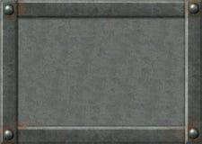 Fondo - placas de metal con los remaches Foto de archivo libre de regalías