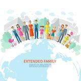 Fondo plano de la familia Foto de archivo libre de regalías