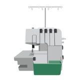 Fondo plano del blanco del ion de la máquina de coser Fotos de archivo