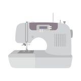 Fondo plano del blanco del ion de la máquina de coser Fotografía de archivo