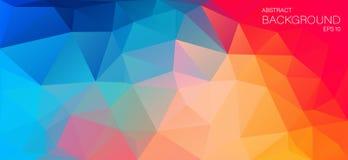 Fondo plano del color brillante con los triángulos Fotos de archivo