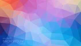 Fondo plano del color con los triángulos Fotografía de archivo libre de regalías