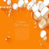Fondo plano del cumpleaños del estilo Imagenes de archivo