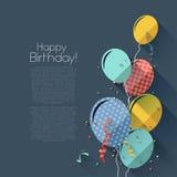 Fondo plano del cumpleaños del estilo Imagen de archivo libre de regalías