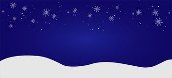 Fondo plano del paisaje del invierno hermoso de la Navidad Bosque del bosque de la Navidad con las montañas Saludo del vector del libre illustration
