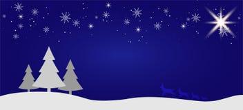 Fondo plano del paisaje del invierno hermoso de la Navidad Bosque del bosque de la Navidad con las montañas Saludo del vector del ilustración del vector