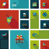 Fondo plano del ui que viaja, eps10 Imágenes de archivo libres de regalías
