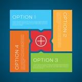 Fondo plano del vector de las opciones del estilo Imágenes de archivo libres de regalías
