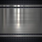 Fondo plateado de metal Imagen de archivo libre de regalías