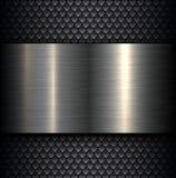 Fondo plateado de metal Imagen de archivo