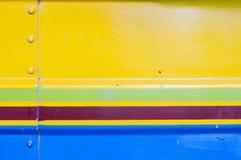 Fondo plateado de metal colorido Imagen de archivo