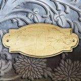 Fondo plateado de metal floral Fotografía de archivo libre de regalías