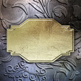 Fondo plateado de metal floral Imagen de archivo