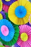 Fondo plegable de papel colorido Imágenes de archivo libres de regalías
