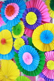 Fondo plegable de papel colorido Fotografía de archivo