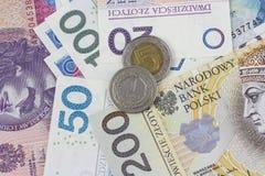 Fondo polacco di zloty di valuta Immagine Stock