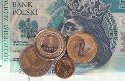 Fondo polaco del dinero Fotografía de archivo libre de regalías