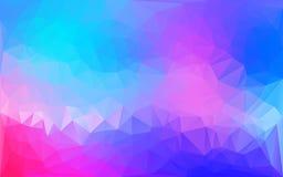 Fondo poligonal abstracto azul y rosado Imagen de archivo libre de regalías