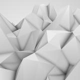 Fondo poligonal abstracto blanco Imagen de archivo