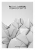 Fondo poligonal abstracto blanco Fotografía de archivo libre de regalías