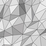 Fondo poligonal abstracto blanco Imagenes de archivo