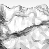 Fondo poligonal abstracto blanco Foto de archivo