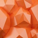 Fondo poligonal abstracto 3d Imágenes de archivo libres de regalías