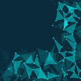 Fondo poligonal abstracto de la oscuridad del espacio Imagen de archivo libre de regalías