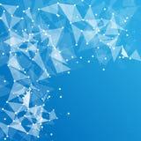 Fondo poligonal abstracto del espacio Fotografía de archivo