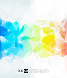 Fondo poligonal abstracto del vector Fotografía de archivo libre de regalías