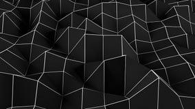 Fondo poligonal abstracto negro Ejemplo de Digitaces Imágenes de archivo libres de regalías
