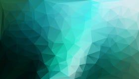 Fondo poligonal abstracto - negro/verde Imágenes de archivo libres de regalías