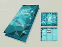Fondo poligonal abstracto para la plantilla triple libre illustration