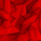 Fondo poligonal abstracto rojo Fotos de archivo
