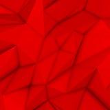 Fondo poligonal abstracto rojo Foto de archivo