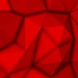 Fondo poligonal abstracto rojo Fotos de archivo libres de regalías