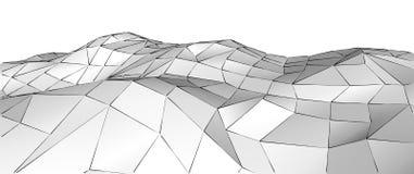 Fondo poligonal bajo triangular geométrico blanco abstracto 3d 3d rinden Fotografía de archivo libre de regalías