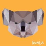 Fondo poligonal de la koala Fotos de archivo