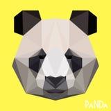 Fondo poligonal de la panda Imagen de archivo libre de regalías