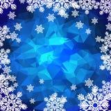 Fondo poligonal de los copos de nieve Imagen de archivo libre de regalías