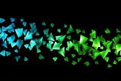 Fondo poligonal de Wireframe ilustración del vector