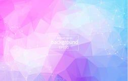 Fondo poligonal de Wireframe fondo poligonal con las líneas y los puntos conectados Vector libre illustration