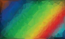 Fondo poligonal del arco iris Imagen de archivo libre de regalías