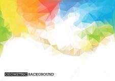 Fondo poligonal del arco iris Colores del arco iris Fotos de archivo